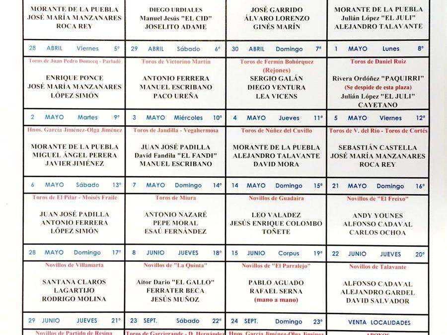 Sevilla bullfighting 2017 season schedule