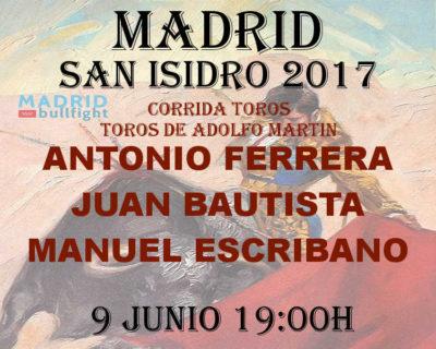 Bullfight Madrid 9 june - Entradas toros Madrid 9 junio