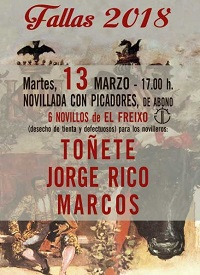 13 marzo toros valencia